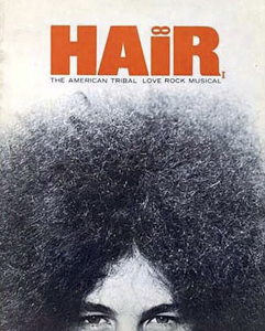 Hair playbill featuring Bert Sommer's hair.