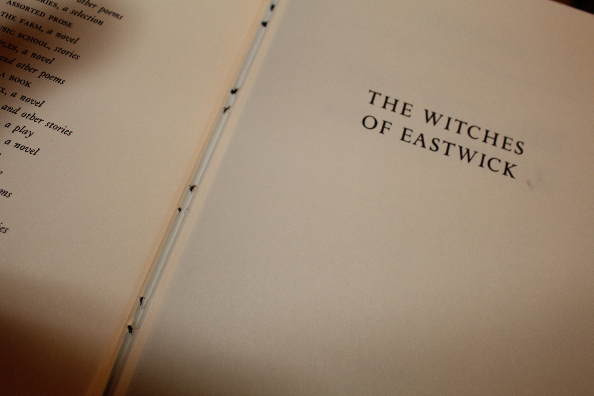 "a photo of the book ""The Witches of Eastwick"""