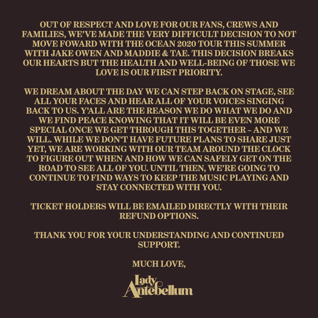 lady a cancellation notice