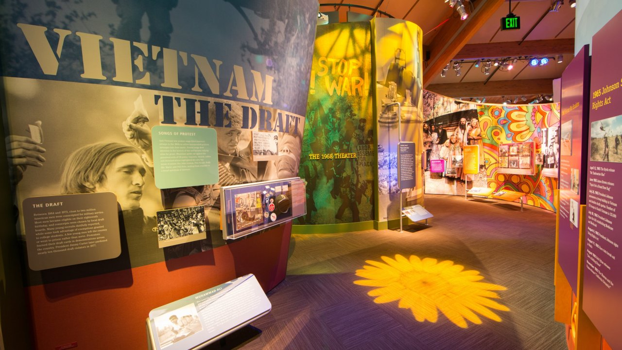 main exhibit at Bethel Woods Museum
