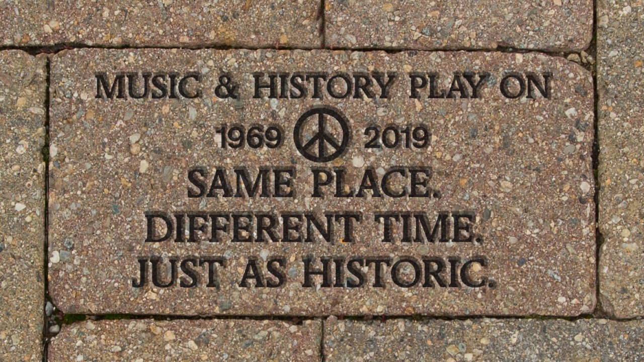 50th anniversary paver for Woodstock