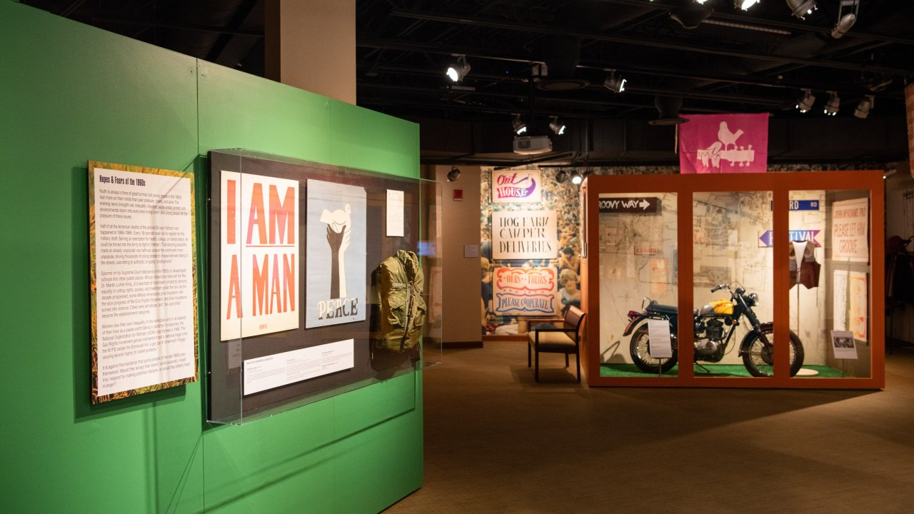 special exhibit at Bethel Woods Museum