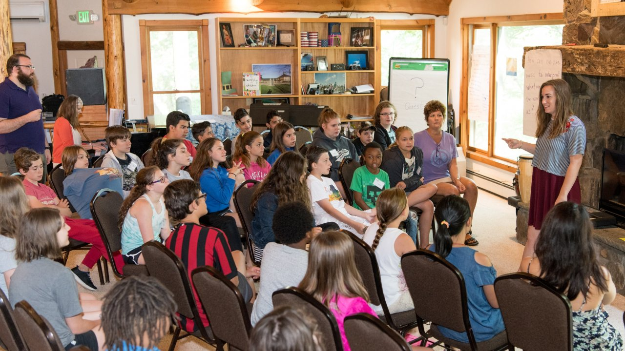 school group program at Bethel Woods