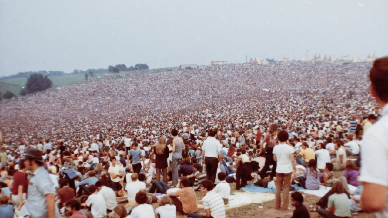 old photo of Woodstock 1969