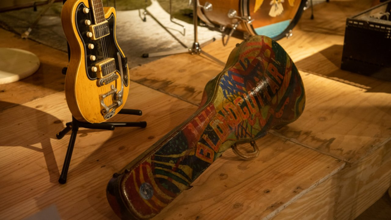 guitar case from Woodstock Festival