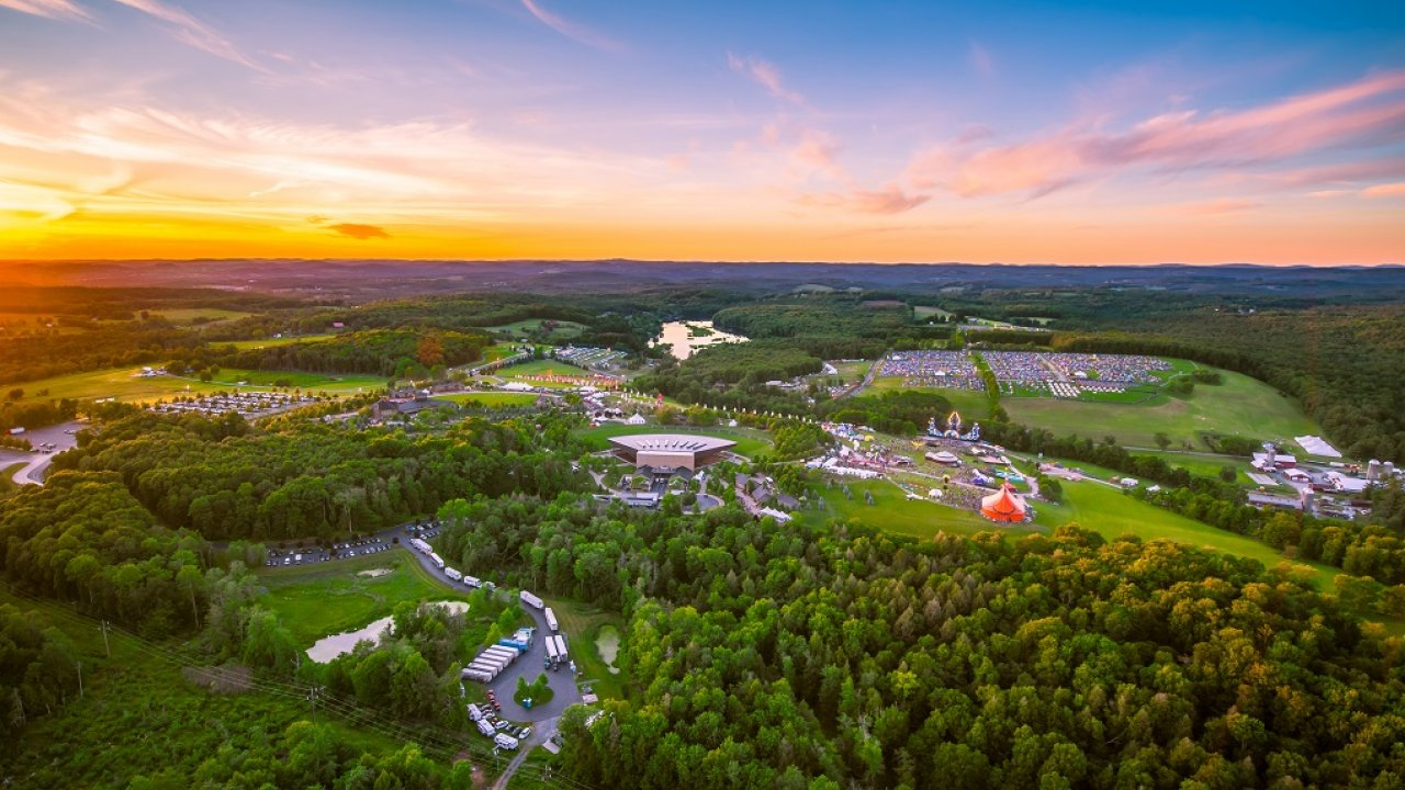 large music festival at Bethel Woods