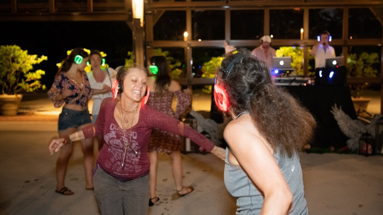 silent disco at Bethel Woods