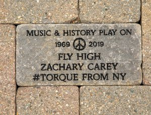 Woodstock 50th Anniversary paver