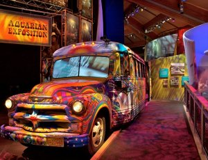 painted bus in museum