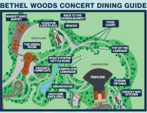 Bethel Woods campus dining map
