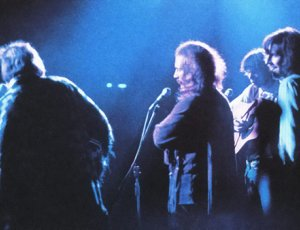 Crosby, Stills, Nash, & Young performing at Woodstock