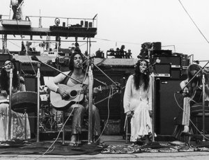 The Incredible String Band performing at Woodstock