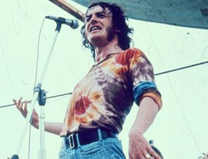 Joe Cocker performing at Woodstock