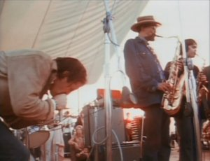 The Paul Butterfield Blues Band performing at Woodstock