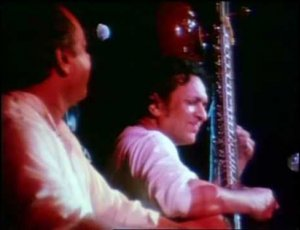 Ravi Shankar performing at Woodstock