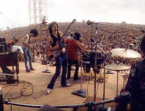 Santana performing at Woodstock