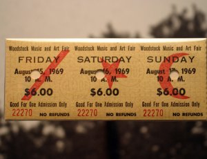 Woodstock Ticket Photo