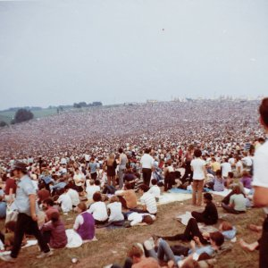 historic photo of Woodstock festival