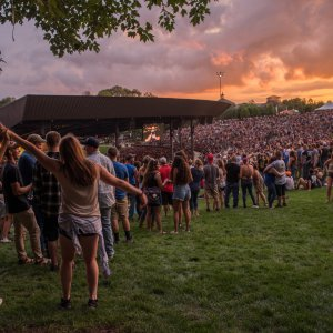 concert at Bethel Woods during sunset