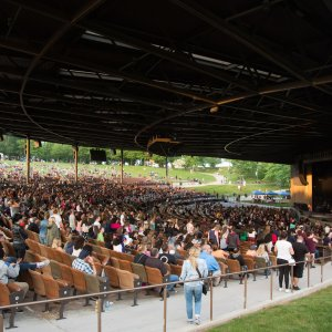 outdoor concert venue at Bethel Woods