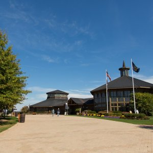 entrance of Bethel Woods Center for the Arts