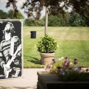 outdoor photo exhibition at bethel woods