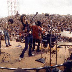 Santana performing at Woodstock in 1969