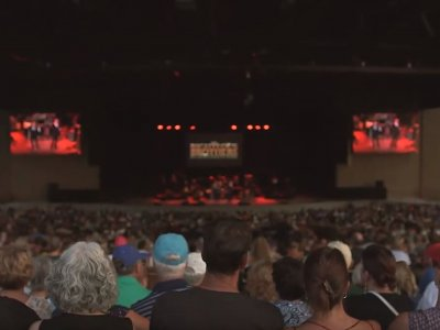 people at a concert at Bethel Woods