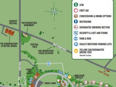 Bethel Woods grounds map