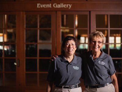 two Bethel Woods volunteers