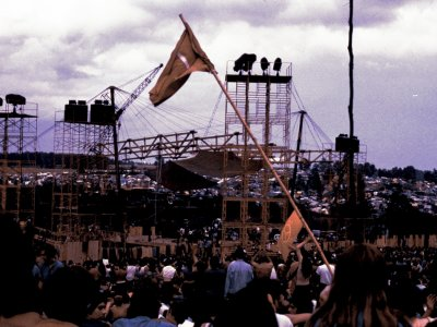 historic Woodstock music festival